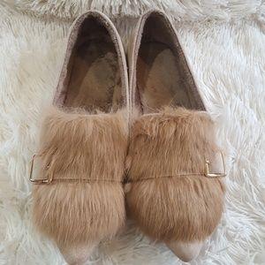 Shoes - Fur flats